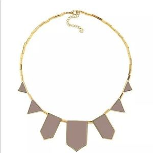 House of Harlow Leather Station Khaki Necklace